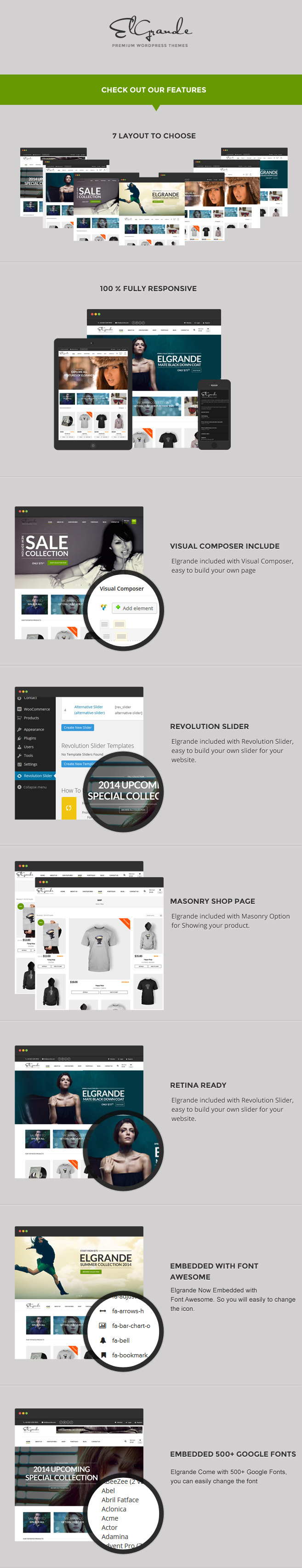 Elgrande - 7 Beautiful Layouts eCommerce Theme