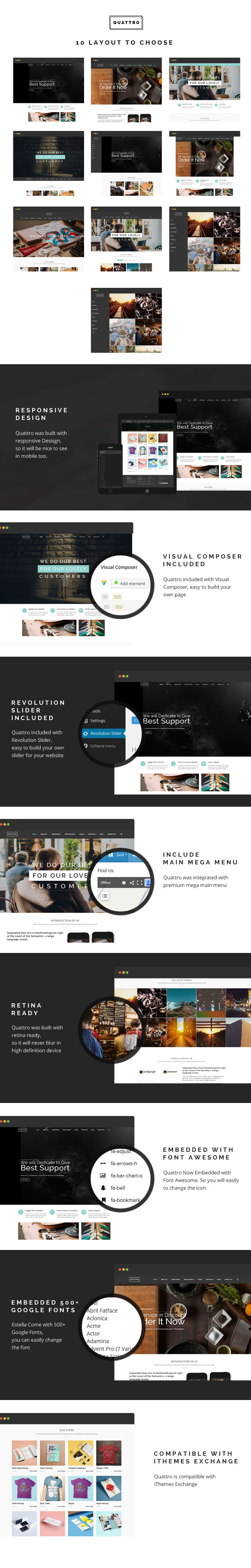 Quattro - Multilayout for Multipurpose WP Theme